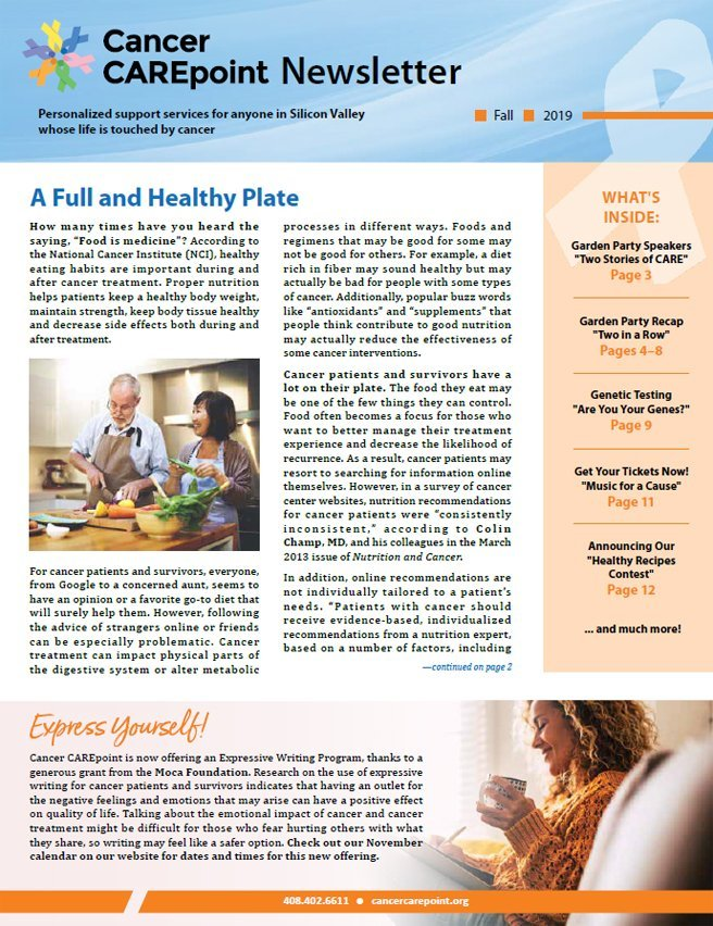 Cancer CAREpoint Fall 2019 Newsletter