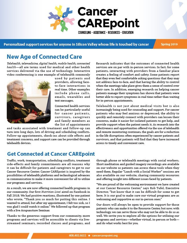 Cancer CAREpoint Spring 2019 Newsletter