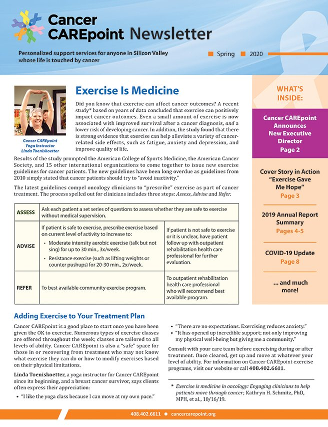 Cancer CAREpoint Spring 2020 Newsletter
