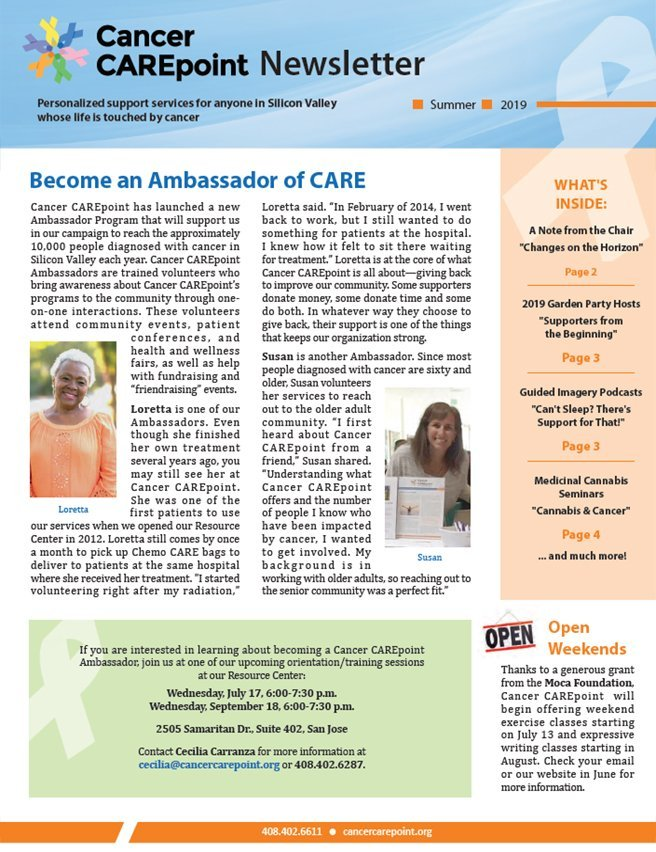 Cancer CAREpoint Summer 2019 Newsletter