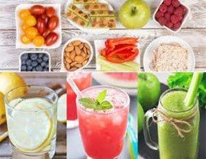 Bocadillos y bebidas energizantes